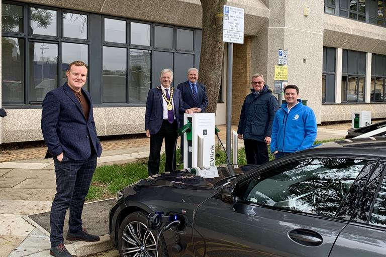 New Chargers Launch in Stevenage Town Centre