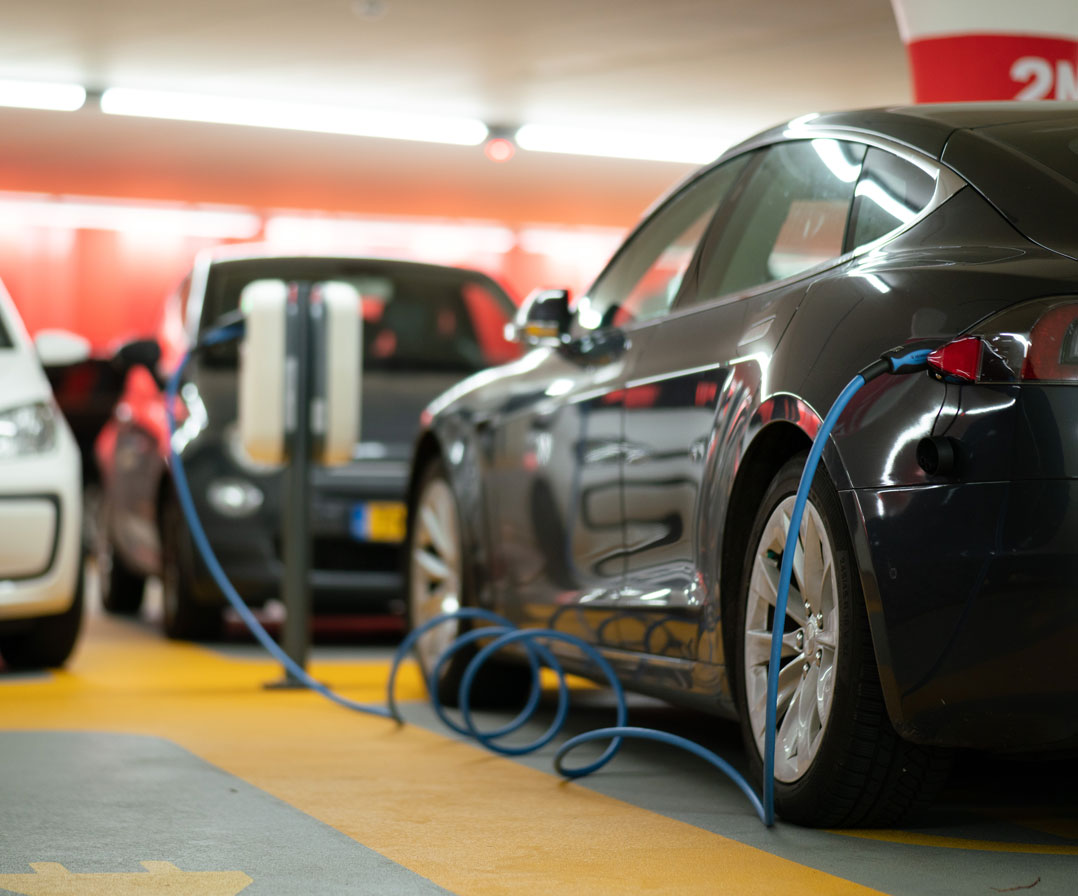 Electric Vehicle Charging in garage